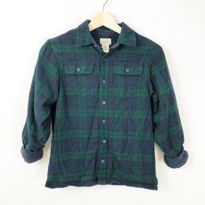 LL Bean Fleece Lined Plaid Flannel Shirt Jacket, 8